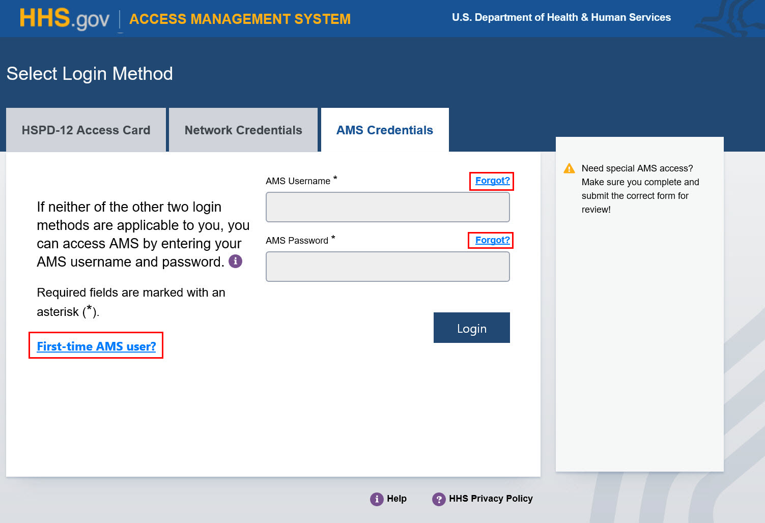 HHS AMS - How to Enable or Disable Accessibility Mode in AMS