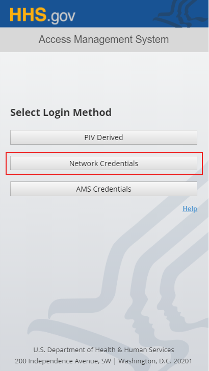 HHS AMS - How to Log into AMS with your Network Username and Password